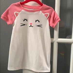 Pink and white tshirt dress